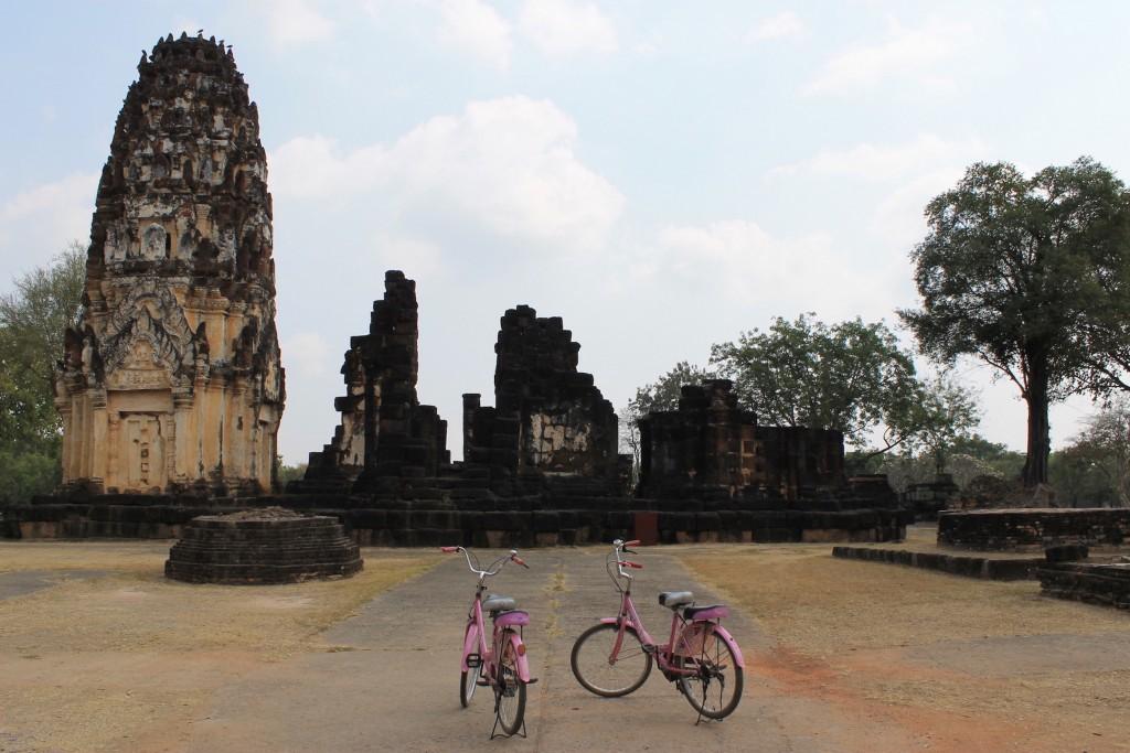 Sukhotai, avec nos vélos So Girly