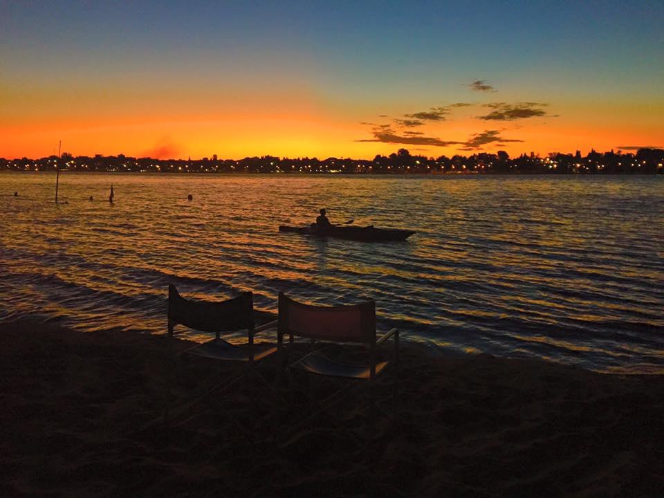 Rosario, coucher de Soleil